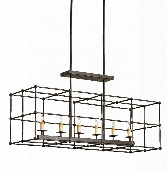 Fitzjames Rectangular Chandelier Design By Currey & Company