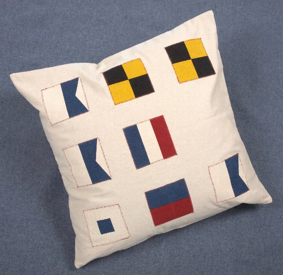 Flags Throw Pillow Design  By Thomas Paul