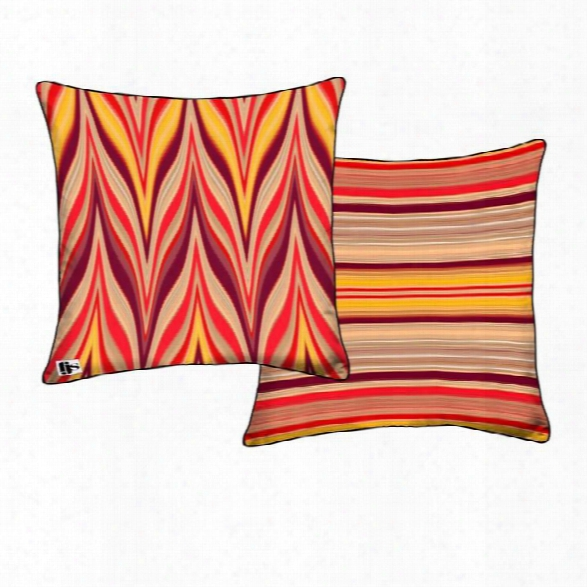 Flame Two Sided Pillow Design By Fjs