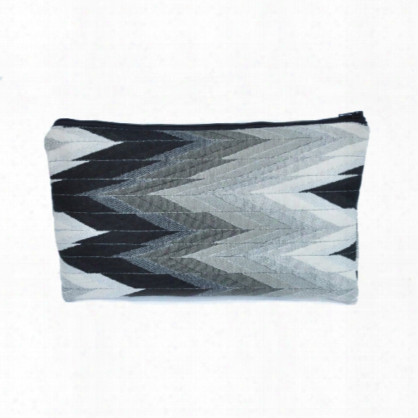 Flame Zipper Pouch In Black Design By Baxter Designs