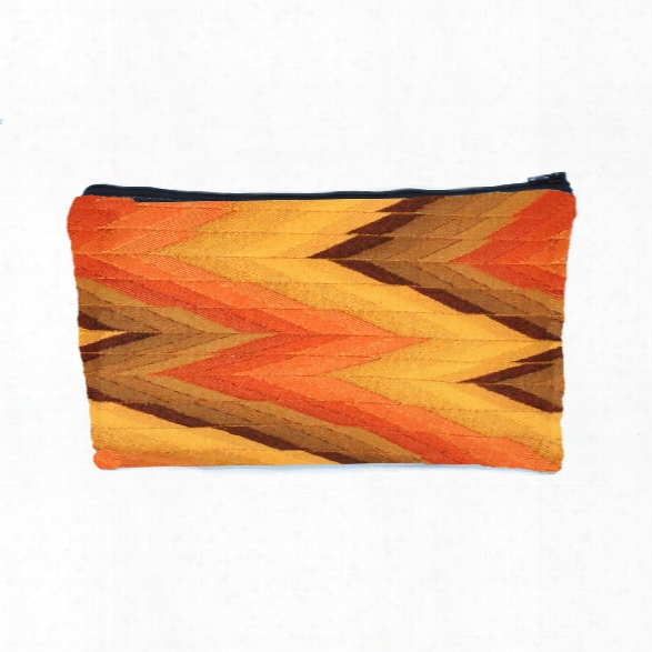 Flame Zipper Pouch In Rust Design By Baxter Designs