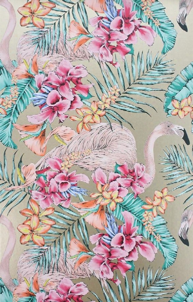 Flamingo Club Wallpaper In Antique Gold By Matthew Williamson For Osborne & Little