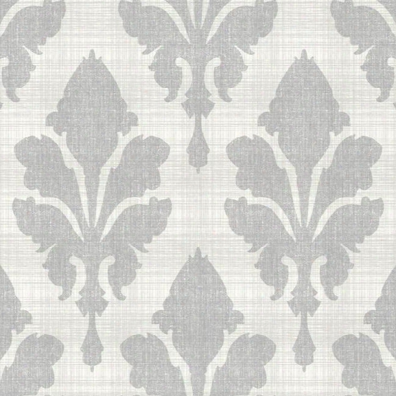 Fleurish Wallpaper In Metallic And Taupe Design By Stacy Garcia For York Wallcoverings