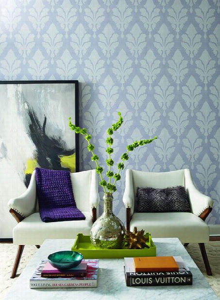 Fleurish Wallpaper In Purple Design By Stacy Garcia For York Wallcoverings