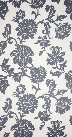 Dusa Wallpaper in Deep grey-blue on cream color by Osborne & Little