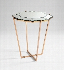 Elara Foyer Table in Rose Gold design by Cyan Design