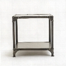 Element End Table in Antique Nickel