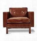 Embassy Chair in Saddle Brown Leather design by Gus Modern