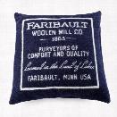 Faribault Logo Wool Pillow Case design by Faribault