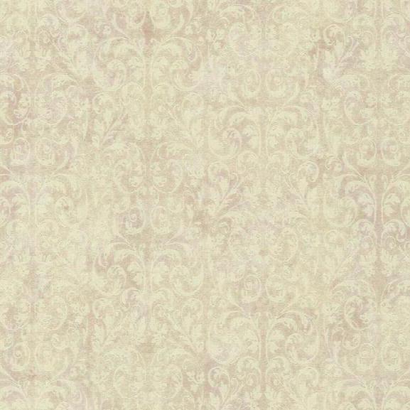 Allover Scroll Wallpaper In Lavender Design By York Wallcoverings