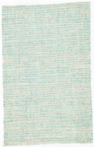 Almand Natural Solid White & Aqua Area Rug Design By Jaipur