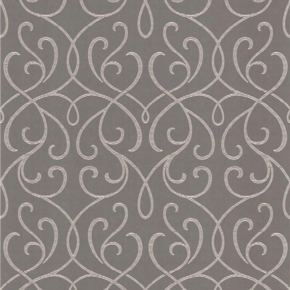 Alouette Mod Swirl Wallpaper In Gray Design By Brewster Home Fashions