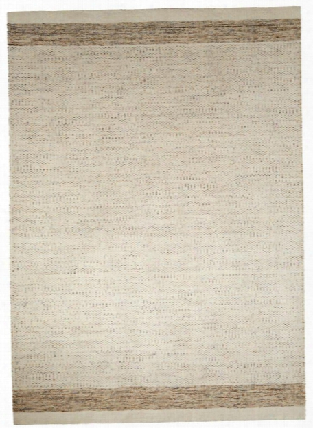 Alton Rug In Pristine & Silver Mink Design By Jaipur