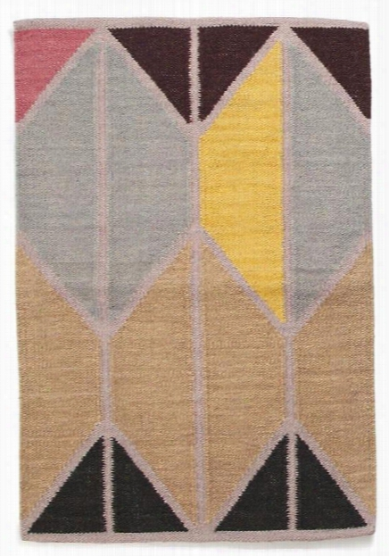 Alyson Fox Shapes Rug In Maroon Combo Design By Hawkins New York