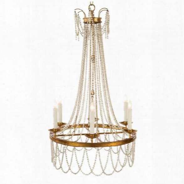 Amber Chandelier In White Design By Aidan Gray