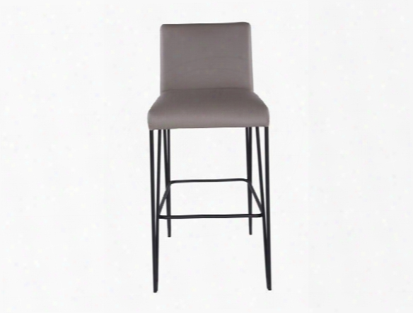 Amir-b Bar Stool In Taupe Design By Euro Style
