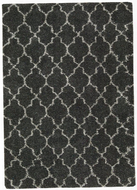 Amore Collection Shag Area Rug In Charcoal Design By Nourison