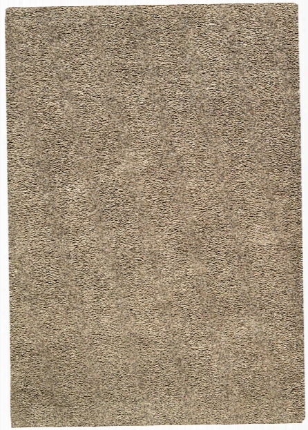 Amore Collection Shag Area Rug In Oyster Design By Nourison