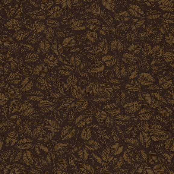 Amorina Brown Leaf Wallpaper From The Scandinavian Designers Ii Collection By Brewster