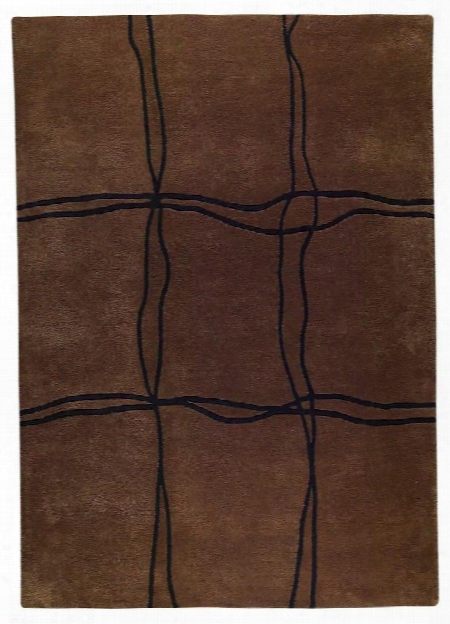 Amsterdam Collection Hand Tufted Wool Area Rug In Brown Design By Mat The Basics