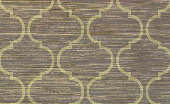 Amwell Ogee Grasscloth Wallpaper In Neutrals Design By Carl Robinson