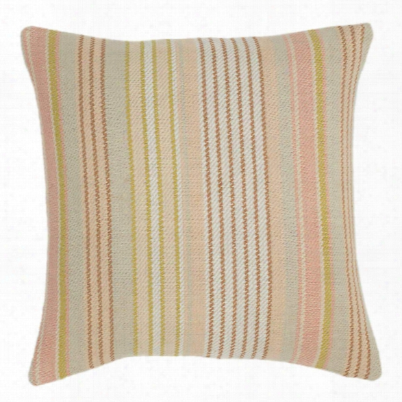 Ana Aqua Ticking Woven Cotton Decorative Pillow By Dash Albert