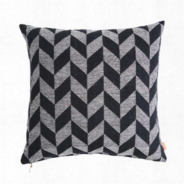 Floor Cushion In Black & Light Grey Design By Oyoy