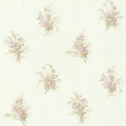 Floral Spot Wallpaper In Pink And Pearl Design By York Wallcoverings