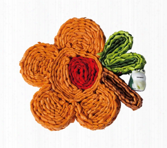 Florigraphie Set Of 6 Assorted Straw Coasters Design By Seletti