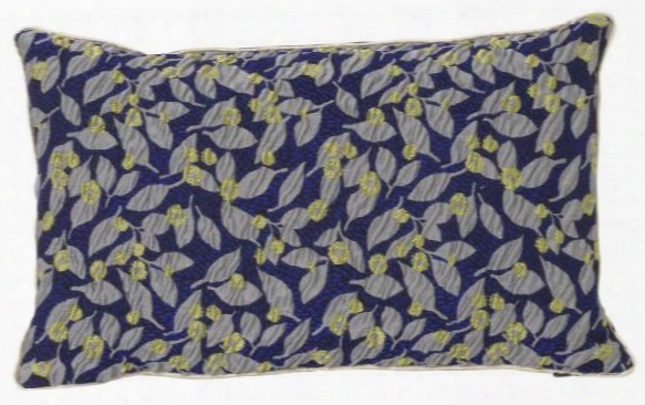 Flower Salon Cushion In Blue Design By Ferm Living