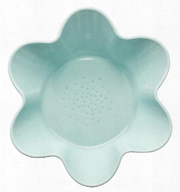 Flower Shaped Serving Bowl In Turquoise Design By Sagaform