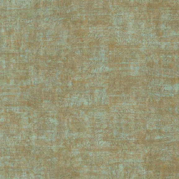 Foil Texture Wallpaper In Aqua And Gold Design By York Wallcoverings