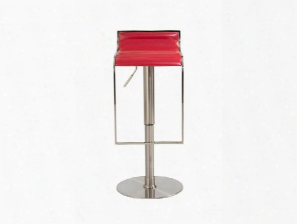 Forest Bar/counter Stool In Red Design By Euro Style