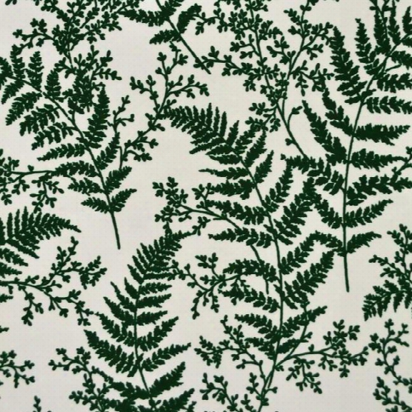 Forest Fern Flock Wallpaper In Dark Green From Magnolia Home Vol. 2 By Joanna Gaines
