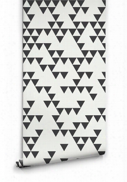 Fracture Wallpaper In Black And White By Ingrid + Mika For Milton & King