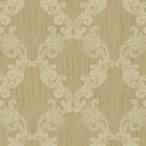 Framed Ombre Wallpaper In Gold Design By York Wallcoverings