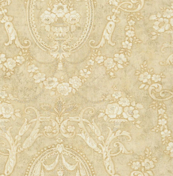 Frills Cameo Wallpaper In Antique Luster From The Vintage Home 2 Collection By Wallquest
