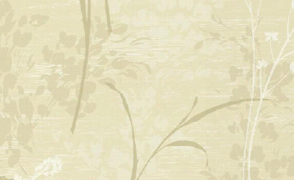 Fumo Floral Wallpaper In Beige And Gold Design By Seabrook Wallcoverings
