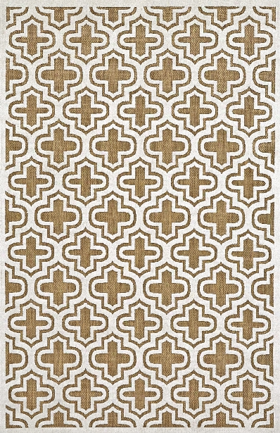 Functional Collection Power Loomed Polypropylene Area Rug In Tan Design By Bd Fine