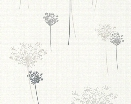 Flower Wallpaper in Ivory and Grey design by BD Wall