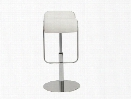 Freddy Adjustable Bar/Counter Stool in White design by Euro Style