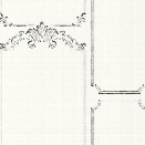 French Panel Wallpaper in White and Black from the Magnolia Home Collection by Joanna Gaines