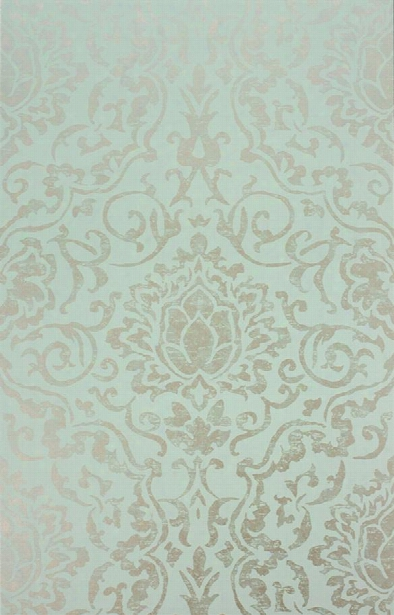 Belem Wallpaper In Aqua And Ivory By Nina Campbell For Osborne & Little