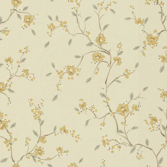 Bella Floral Wallpaper In Grey By Ronald Redding For York Wallcoverings