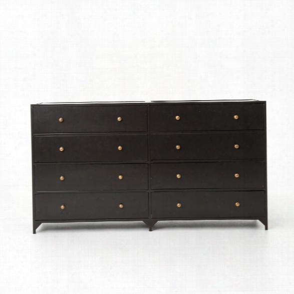 Belmont 8 Drawer Metal Dresser In Dark Metal