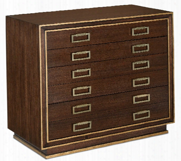 Benedict Map Chest In Dark Walnut Design By Currey & Company