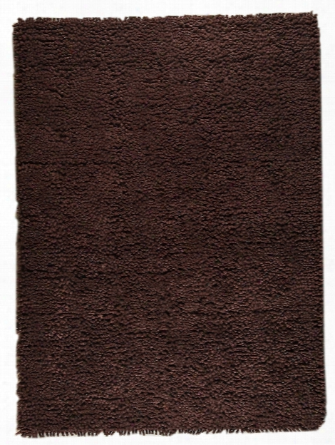 Berber Collection Hand Woven Wool Shag Area Rug In Brown Design By  Mat The Basics