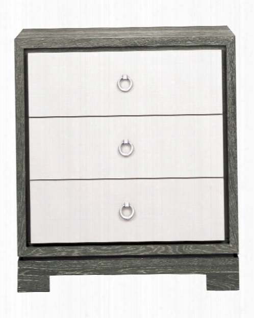 Berkeley Small Side Table In Grey & White Design By Bungalow 5