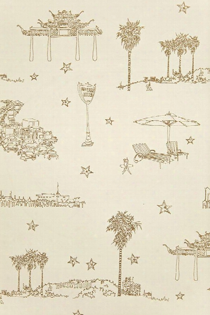 Best Coast Wallpaper In Metqllic Gold And Cream By Sandy White For Cavern Home