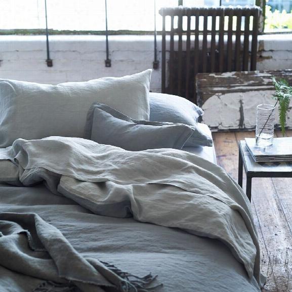Biella Pale Grey & Dove Bedding Design By Designers Guild